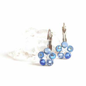 Modré kytičky s crystal hvězdičkou
