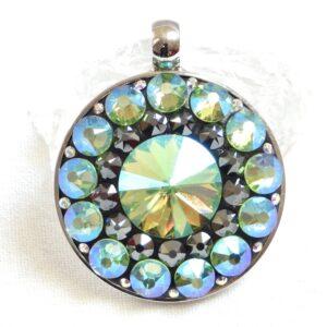 Velký zeleno-hematitový náhrdelník