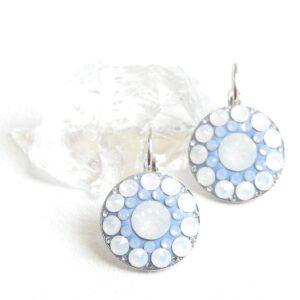 Střední matně modro-opálová sada- mandala